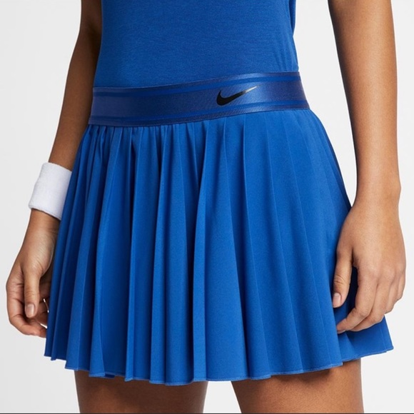 Nike Court Victory Tennis Skirt Blue Size Large